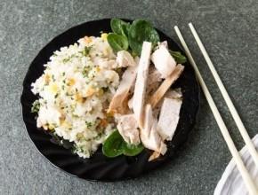 أرز بالبيستو بالدجاج..لذيذ وسريع التحضير