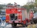 إندلاع حريق في منطقة وعريّة بالقرب من قرية الرّامة دون إصابات