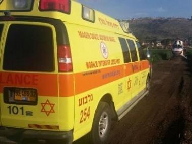 اصابة شاب تعرض لحادث عمل في طوبا