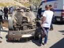 إصابة شابة بجراح متوسطة بعد تعرضها لحادث طرق في قرية أبو سنان