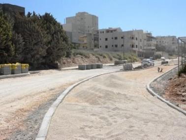 الناصرة: شارع حي الورود الجديد في مراحله الأخيرة