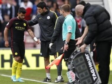 تقارير: غياب اجويرو عن السيتي لنهاية الموسم