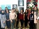 طالبات الفنون في ثانوية البعنة الشاملة يتألقن من خلال معرض للرسومات التشكيلية