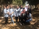 حملة تنظيف للساحة الخلفية في الثانوية الشاملة في مدينة كفرقاسم