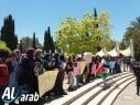 تظاهرة طلابية في جامعة تل أبيب إحتجاجًا على أحداث كفرقاسم الأخيرة