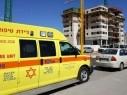 اصابة متوسطة لرجل تعرض لحادث عمل في كريات حاييم