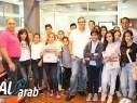 طلاب فرع الصحافة والاعلام من مدرسة عبد العزيز امون دير الاسد يزورون مكاتب كل العرب