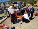 اصابة رجل (40 عاما) بجراح خطيرة في حادث انقلاب دراجة نارية قرب فسوطة