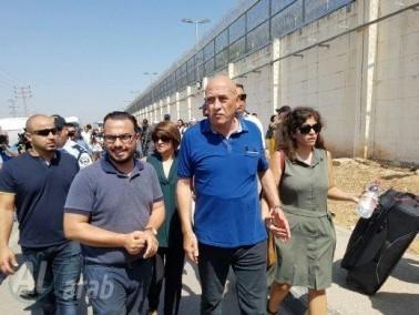 النائب باسل غطّاس يصل الى سجن الجلبواع