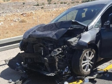 اصابة شخصين في حادث عند مفرق الرامة