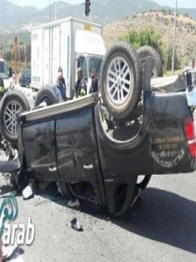 إصابتان بحادث طرق على مفرق المغار