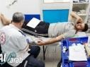 عرابة: 140 وجبة حصيلة حملة التبرع بالدم في المركز الطبي البيروني