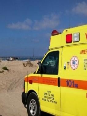 إصابة شاب على شاطئ في طبريا