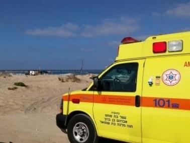 غرق رجل في أحد شواطئ عتليت