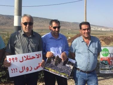 العشرات في كفركنا يتظاهرون تضامنا مع القدس والاقصى