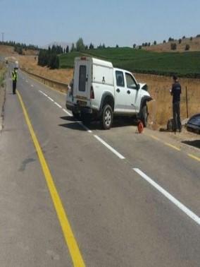 إصابات في حادث طرق قرب كيبوتس الروم