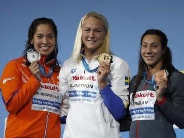 أول ميدالية مصرية في بطولة العالم للسباحة