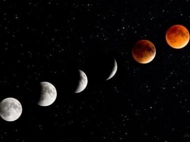 خسوف جزئي للقمر اليوم