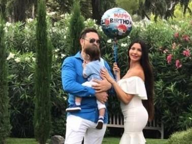 اللبنانية لاميتا فرنجية تحتفل بعيد ميلاد إبنها الوحيد