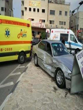 اصابة 3 أشخاص في حادث في كفرياسيف