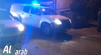 انفجار بدراجة نارية والقاء قنبلة اتجاة ساحة منزل مواطن في كريات حاييم