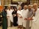 استقبال حجاج من الطيبة والزرازير وحورة في مكة بالحلوى والاناشيد