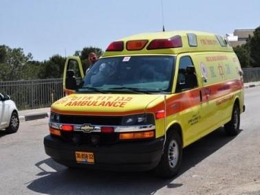 اصابة شاب تعرض للطعن في كريات آتا