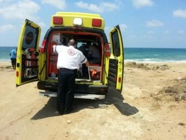 انهيار رجل على شاطئ سيرونيت في نتانيا