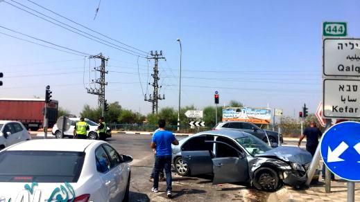 مطاردة بوليسية تسفر عن حادث في جلجولية
