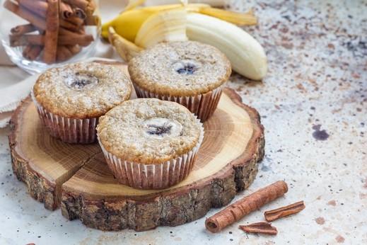 مافن الموز بالشوفان والشوكولاطة صحتين