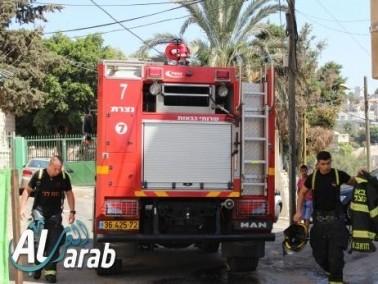 البعينة: إخلاء مدرستين من الطلاب بعد توسع حريق