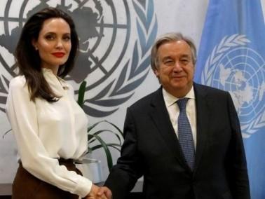 انجلينا جولي تلتقي الأمين العام للأمم المتحدة