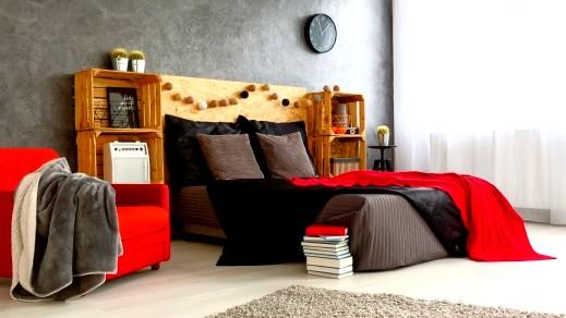 بالصور: الاحمر في غرفة النوم..رومانسية وتميّز
