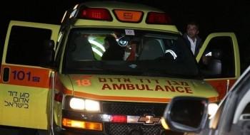 اصابة عامل بجراح متوسطة اثر سقوط جسم ثقيل عليه بمصنع في كريات اتا