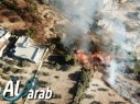 اخماد الحريق الهائل شرقي يركا مع تسجيل أضرار مادية طفيفة دون إصابات بشرية