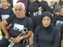 أهالي الطيبة يتظاهرون أمام مركز شرطة كدما احتجاجا على جرائم القتل