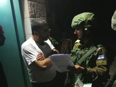 الجيش: تسليم عائلة منفذ عملية هار أدار أمر هدم