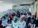 محاضرة للشاعر القدير حسين جبارة في الثانوية الشاملة كفر قاسم