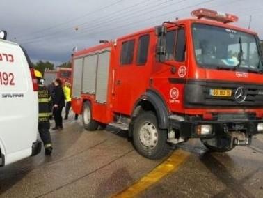 حادث طرق على طريق وادي سلامة