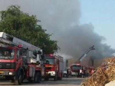 اندلاع حريق مكاتب المجلس الاقليمي مروم هغليل