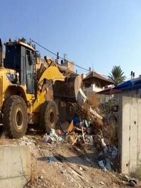 انطلاق حملة تنظيف وإزالة النفايات الصلبة في باقة