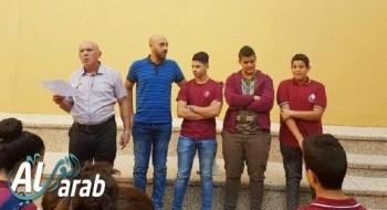 الطالب احمد ربيع رئيسا لمجلس الطلاب في ثانوية الرسالة نحف