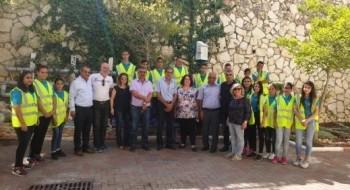 زيارة وفد من وزارة البيئة ووزارة المعارف إلى مدرسة شعب الإعدادية