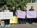 وقفة أمام مقر شرطة الطيرة احتجاجا على جرائم القتل