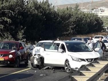 إصابة خمسة أشخاص في حادث قرب الرامة