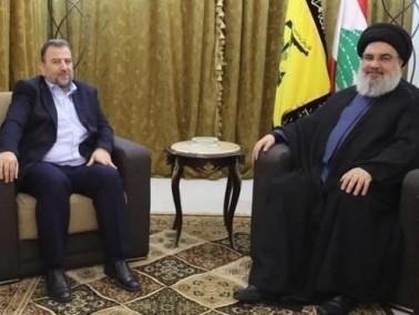 نصر الله يستقبل نائب حركة حماس صالح العاروري