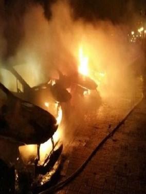 حرق سيارتين لمواطن عربي في نهاريا