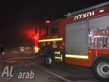 اندلاع حريق داخل منزل في بلدة بيت جن