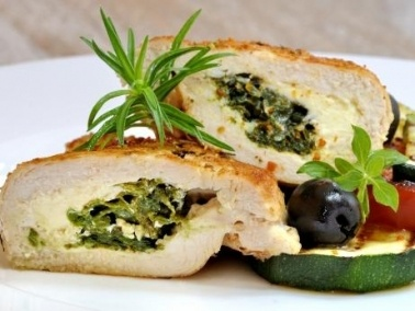 لفائف الدجاج بالخضراوات والجبن..لذيذ