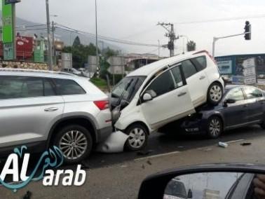 إصابات في حادث طرق عند مفرق الرامة